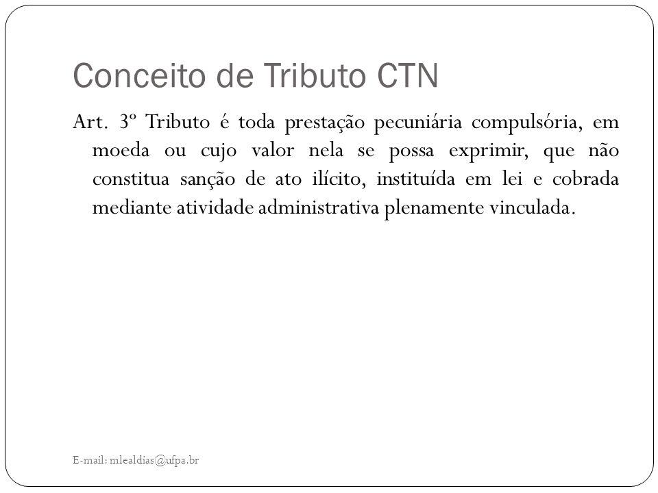 Conceito de Tributo CTN