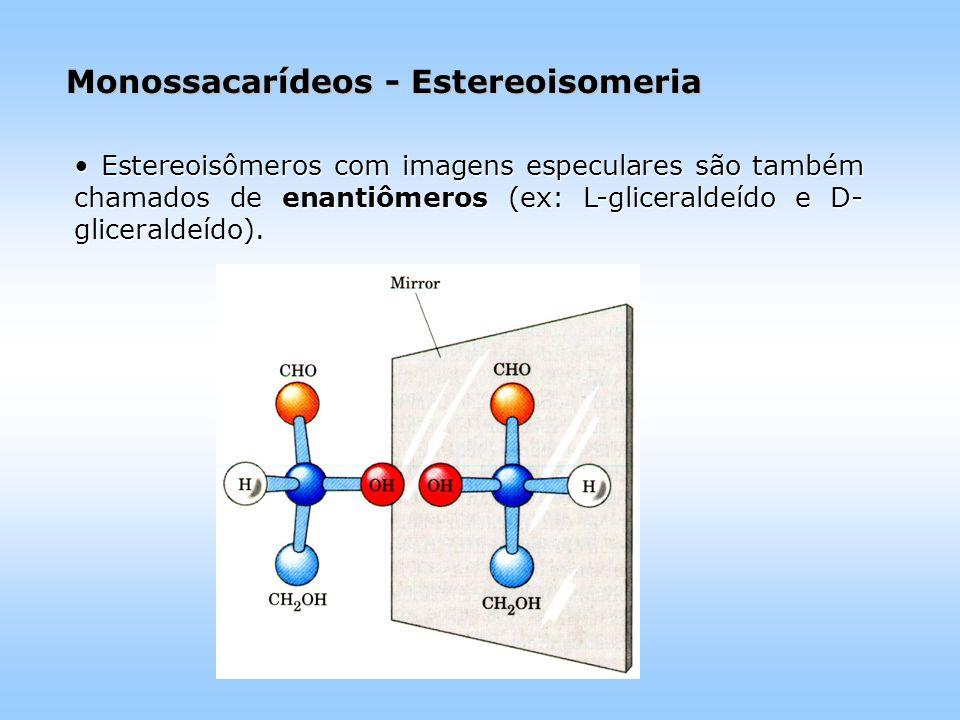 Monossacarídeos - Estereoisomeria