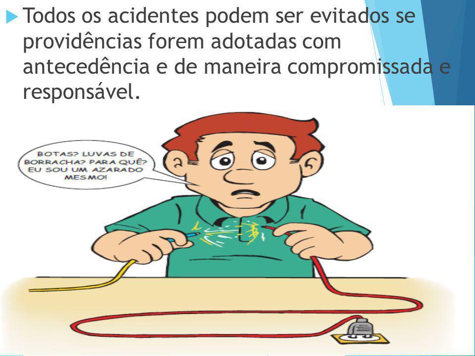 Todos os acidentes podem ser evitados se providências forem adotadas com antecedência e de maneira compromissada e responsável.