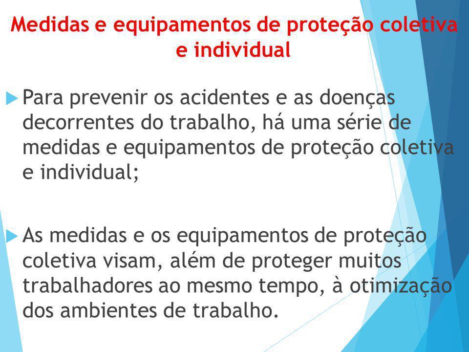 Medidas e equipamentos de proteção coletiva e individual