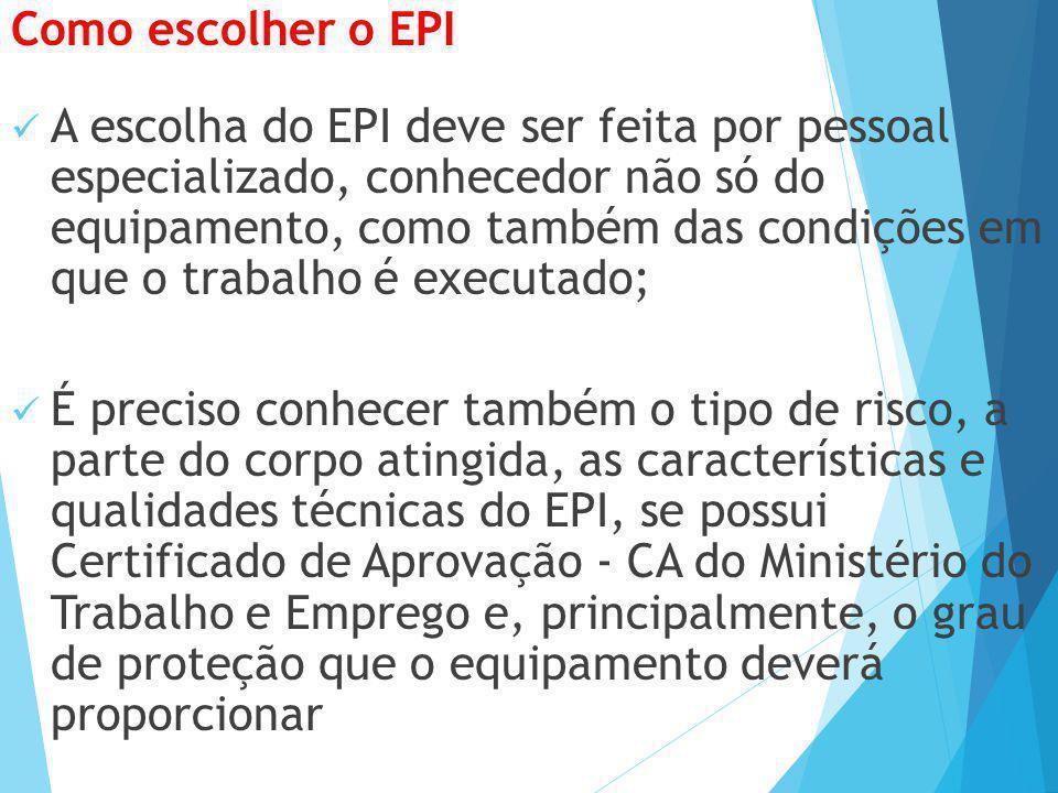 Como escolher o EPI
