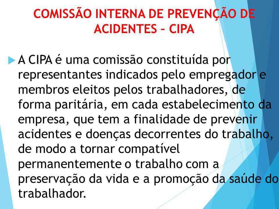 COMISSÃO INTERNA DE PREVENÇÃO DE ACIDENTES – CIPA