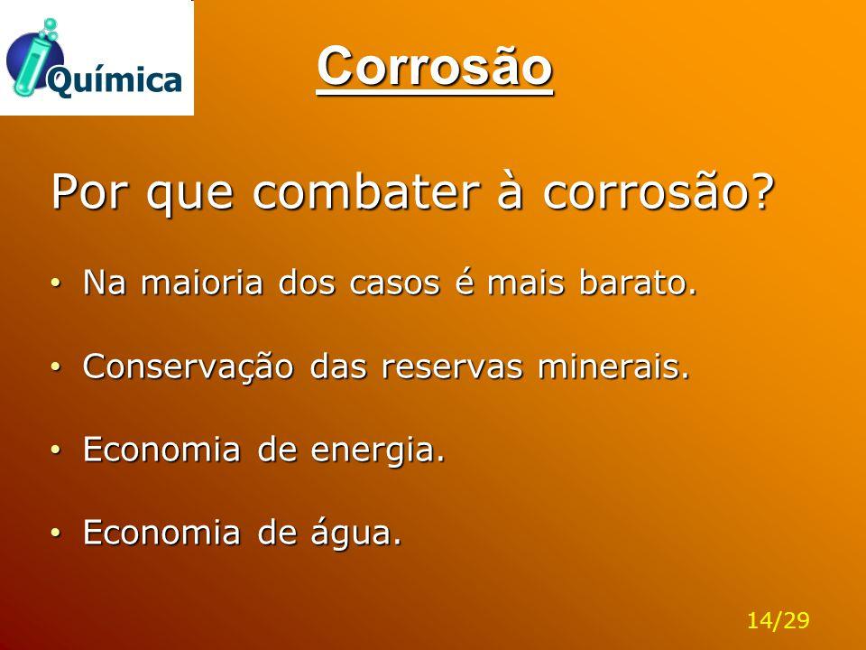 Corrosão Por que combater à corrosão