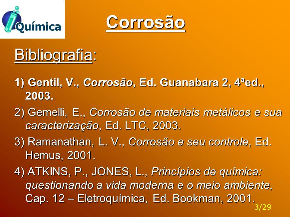 Corrosão Bibliografia: