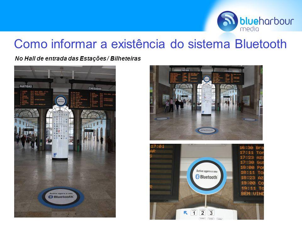 Como informar a existência do sistema Bluetooth