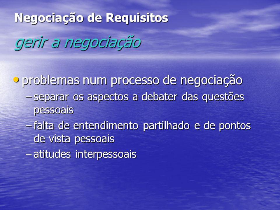 Negociação de Requisitos gerir a negociação