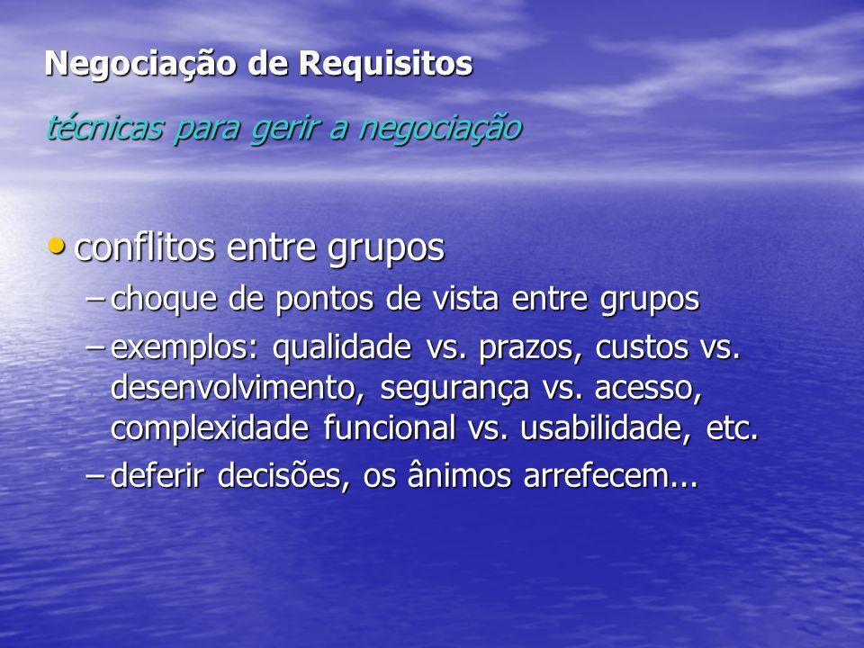 Negociação de Requisitos técnicas para gerir a negociação