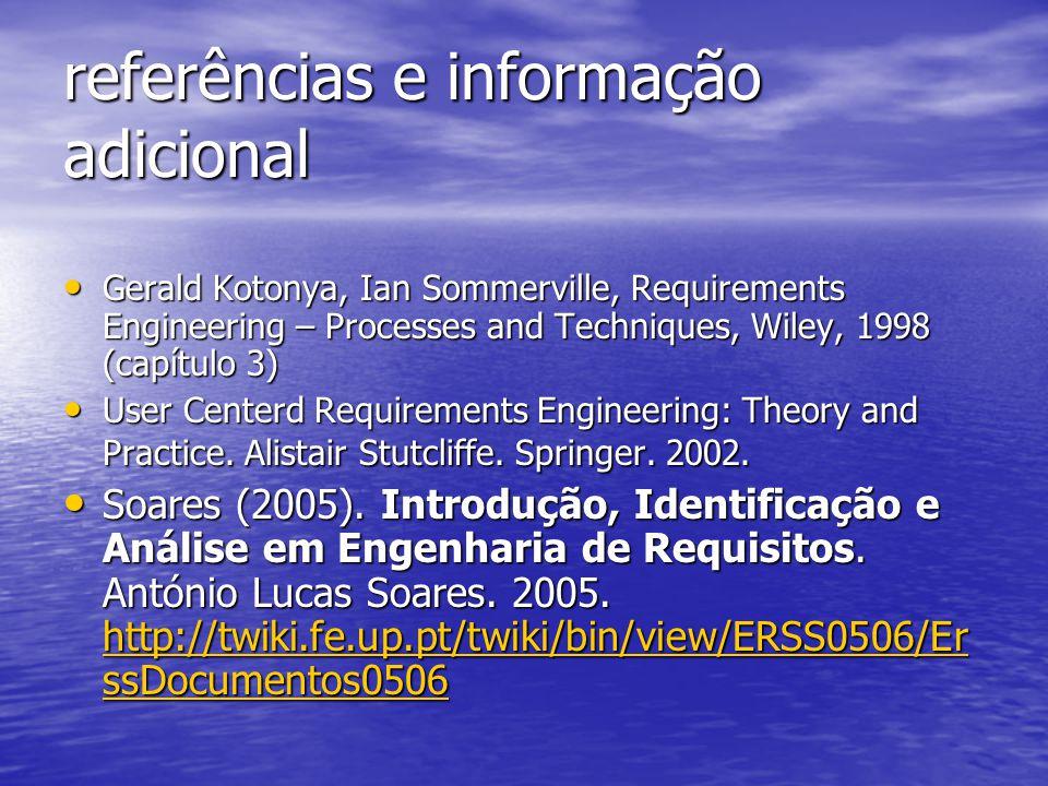 referências e informação adicional
