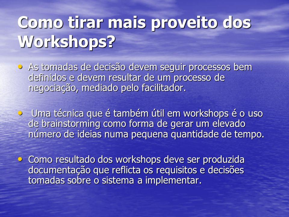 Como tirar mais proveito dos Workshops