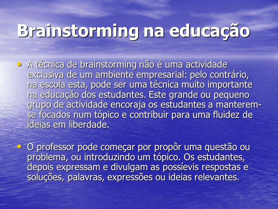 Brainstorming na educação