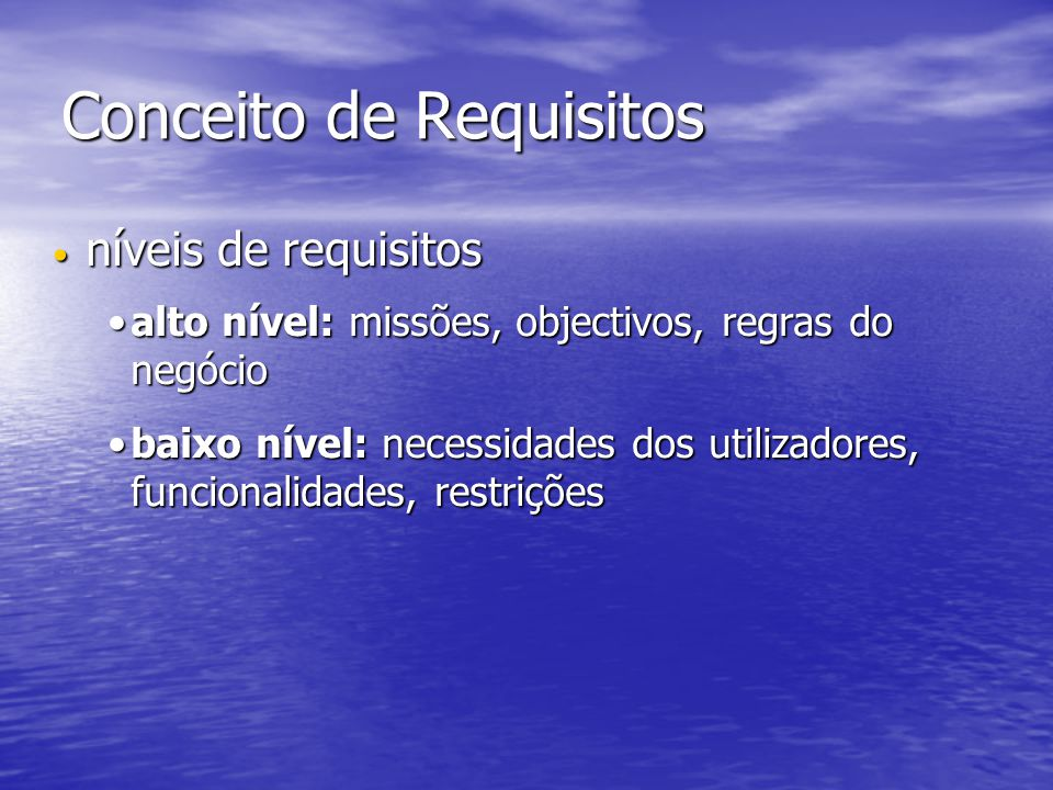 Conceito de Requisitos