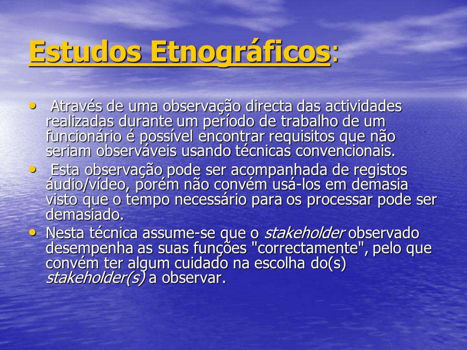 Estudos Etnográficos: