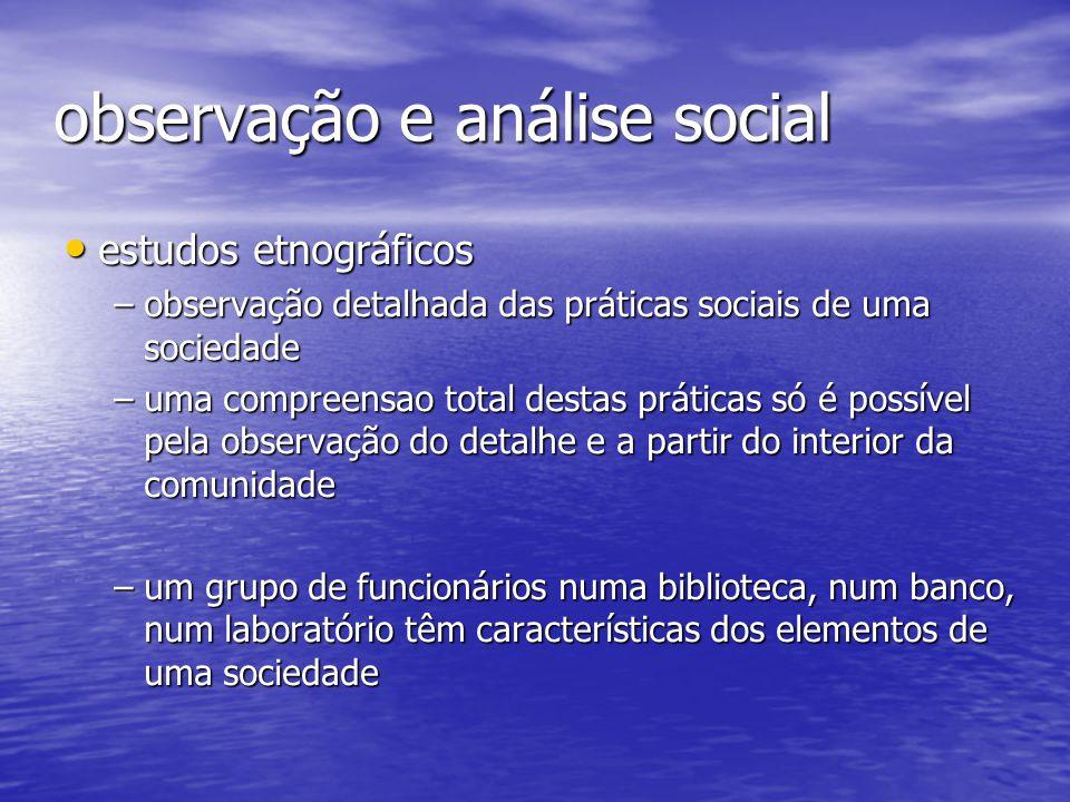 observação e análise social