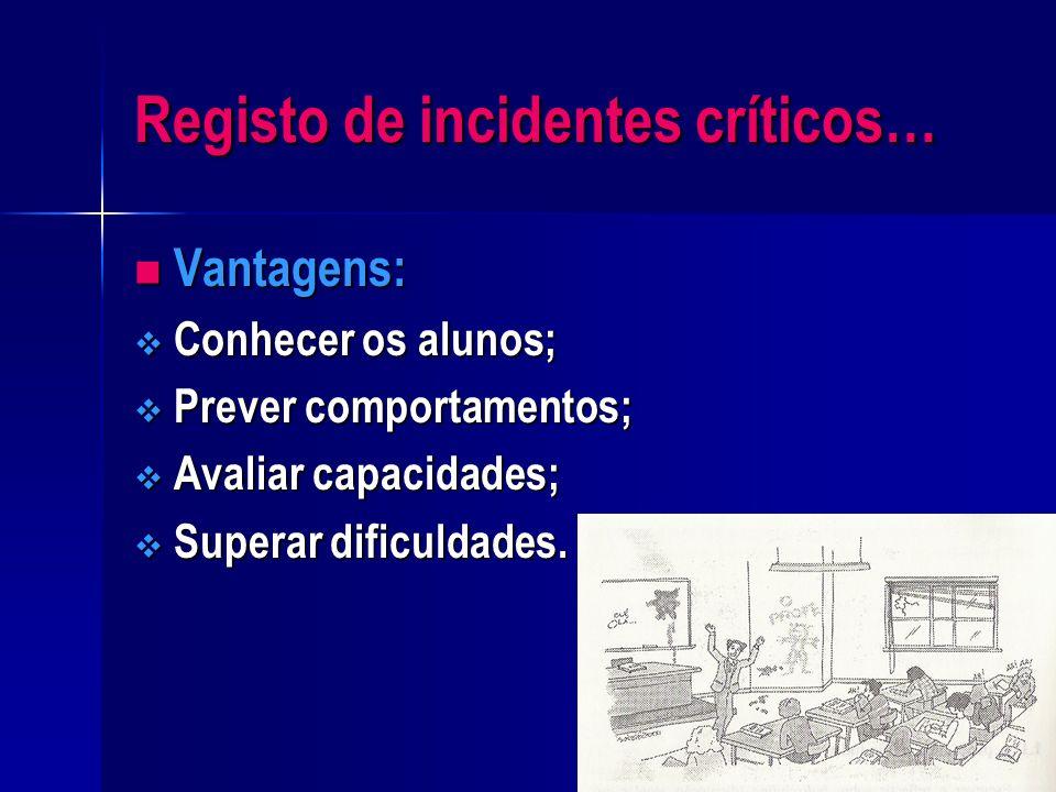 Registo de incidentes críticos…