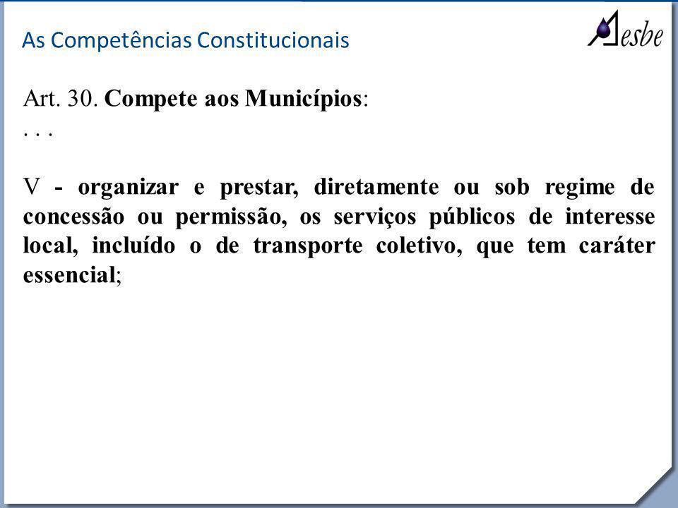 As Competências Constitucionais