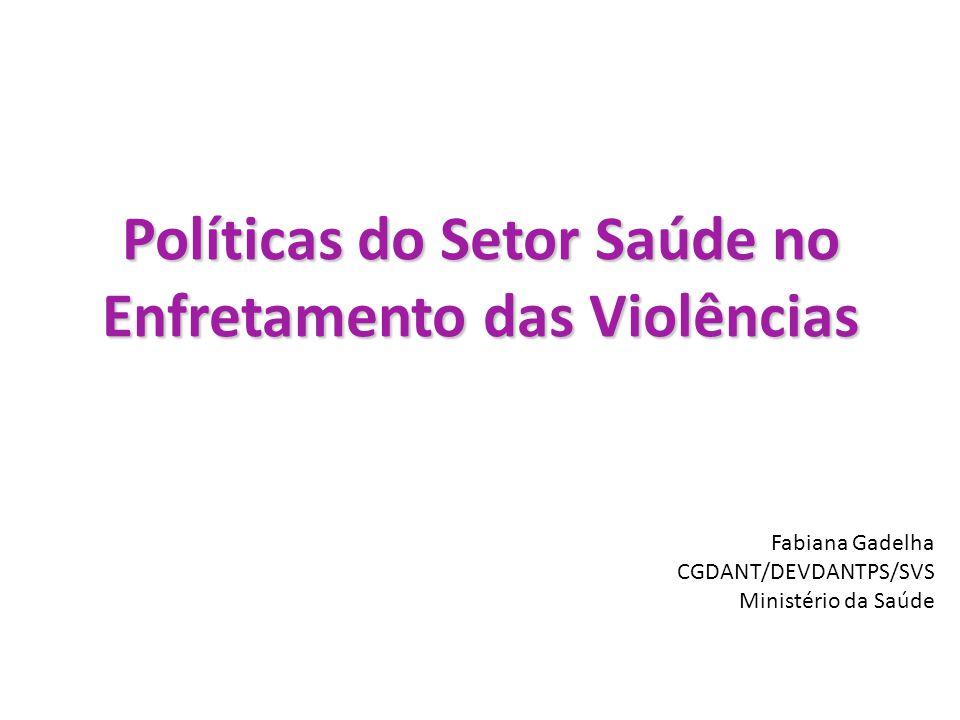 Políticas do Setor Saúde no Enfretamento das Violências