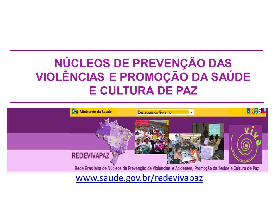 NÚCLEOS DE PREVENÇÃO DAS VIOLÊNCIAS E PROMOÇÃO DA SAÚDE E CULTURA DE PAZ
