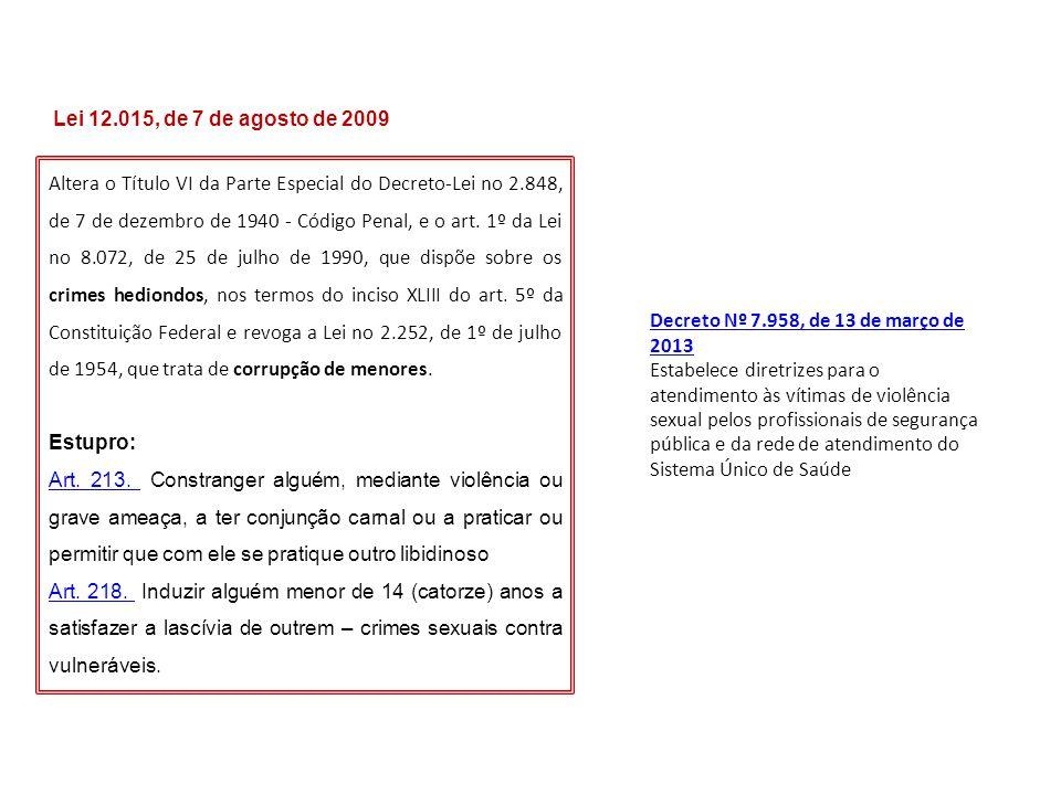 Lei 12.015, de 7 de agosto de 2009