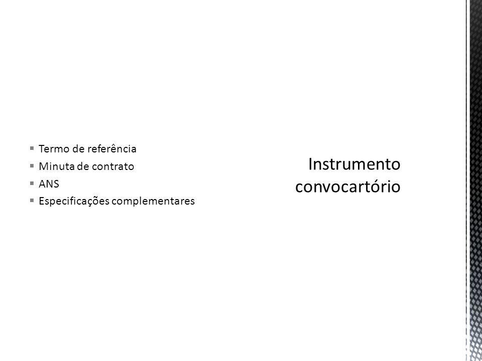 Instrumento convocartório
