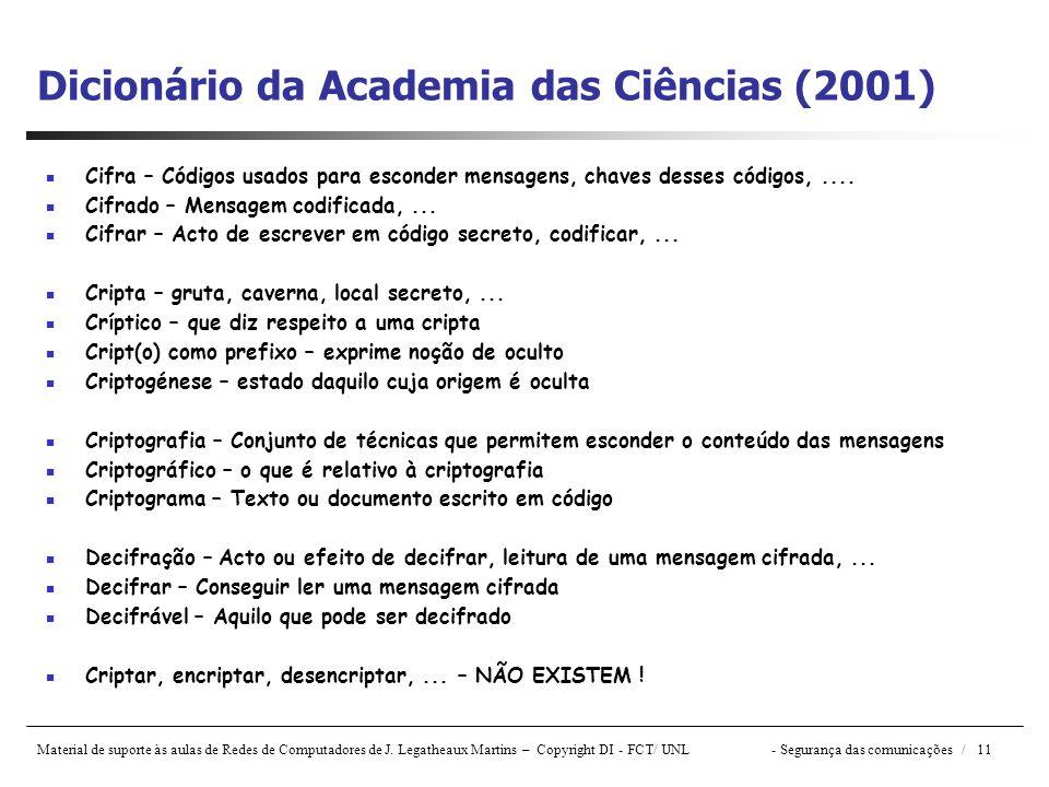 Dicionário da Academia das Ciências (2001)
