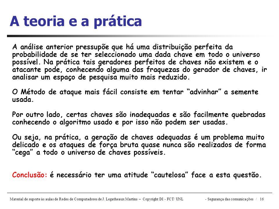 A teoria e a prática