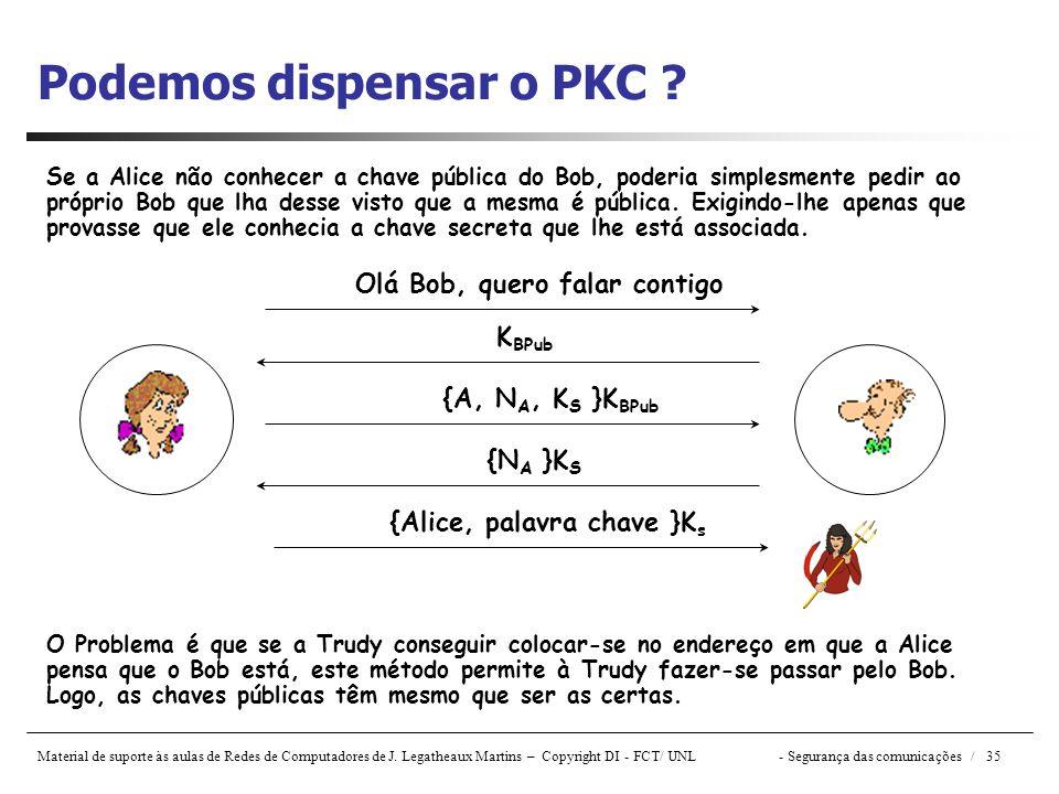 Podemos dispensar o PKC