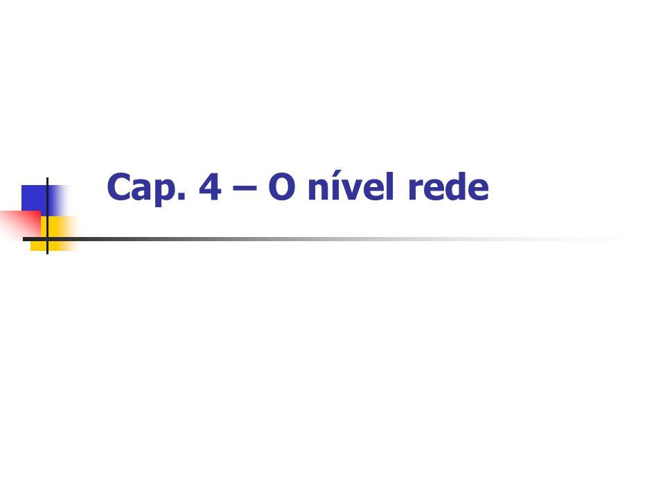 Cap. 4 – O nível rede