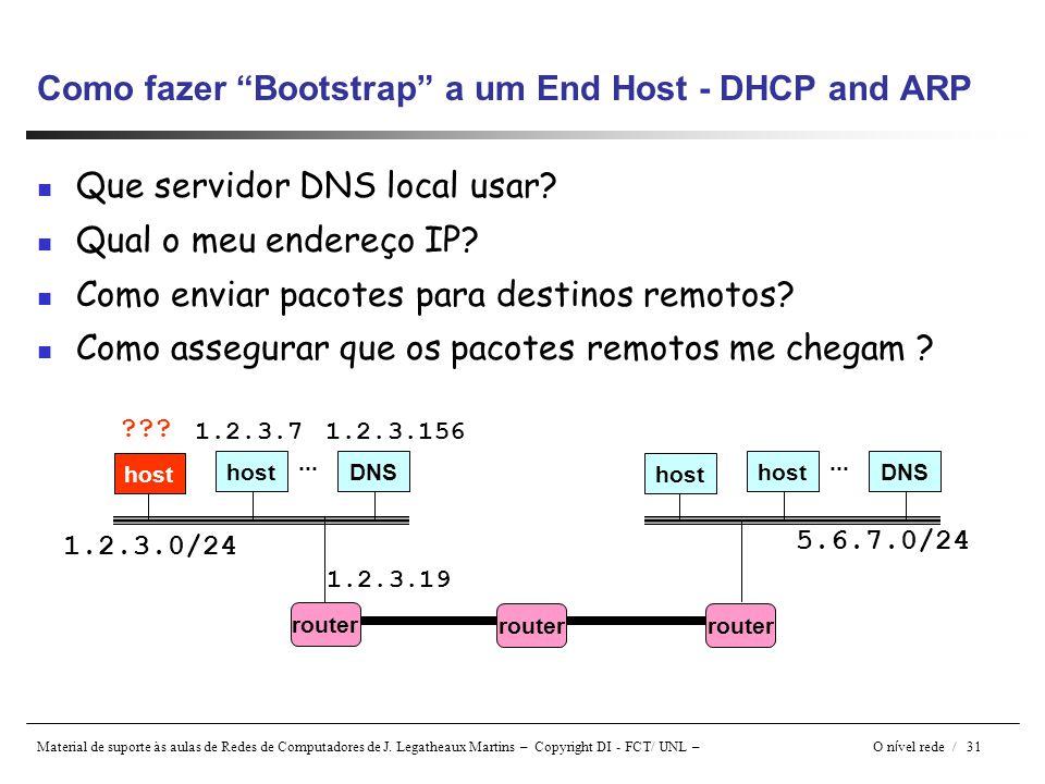 Como fazer Bootstrap a um End Host - DHCP and ARP