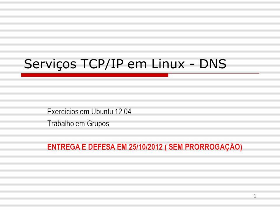 Serviços TCP/IP em Linux - DNS