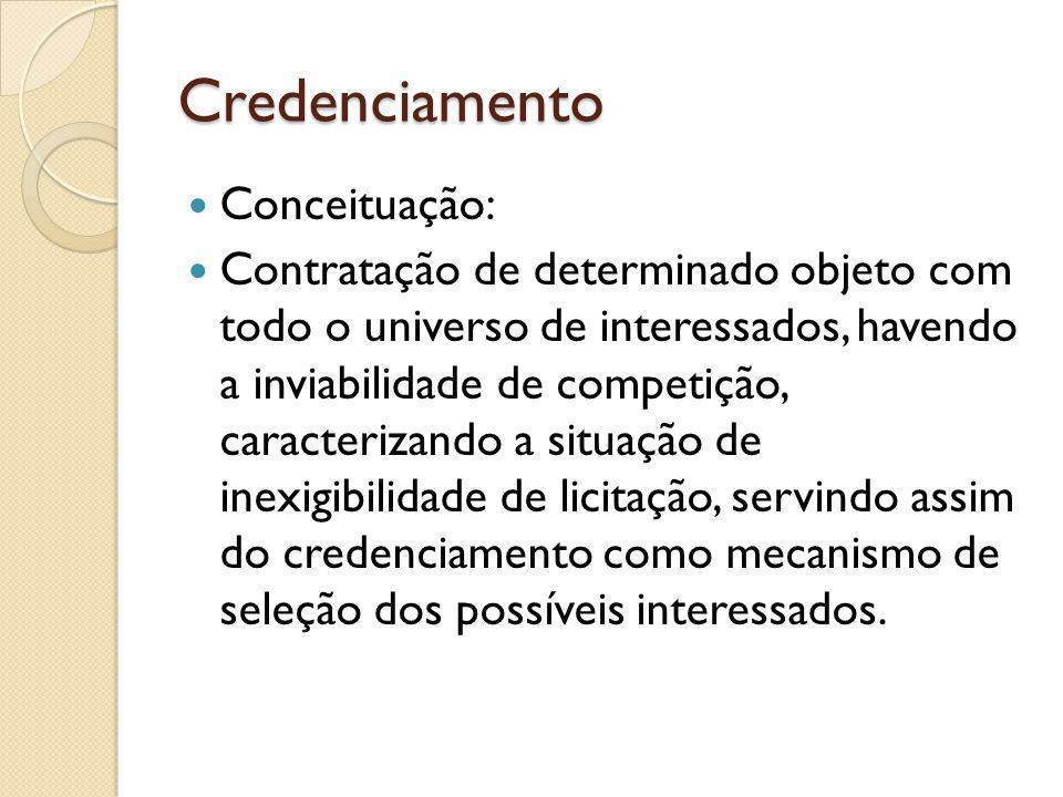 Credenciamento Conceituação: