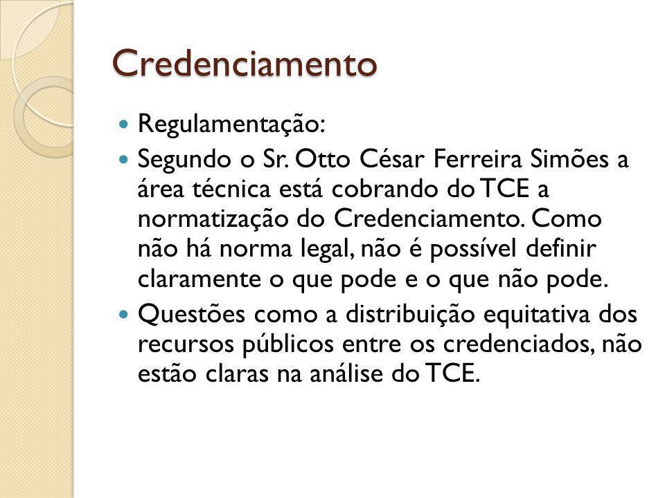 Credenciamento Regulamentação: