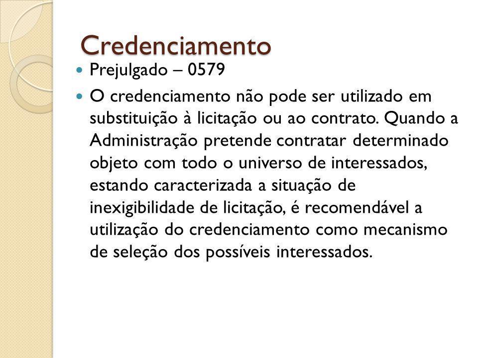 Credenciamento Prejulgado – 0579