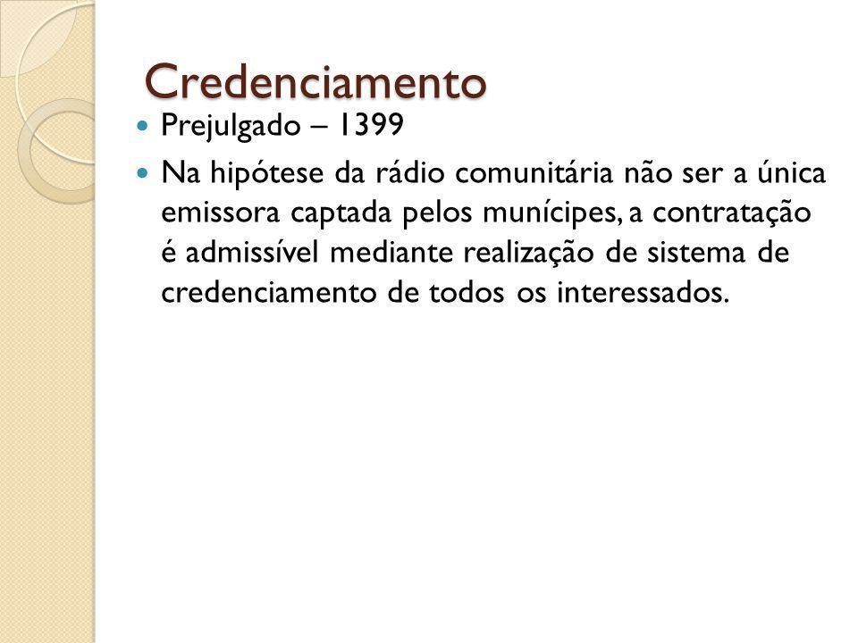 Credenciamento Prejulgado – 1399