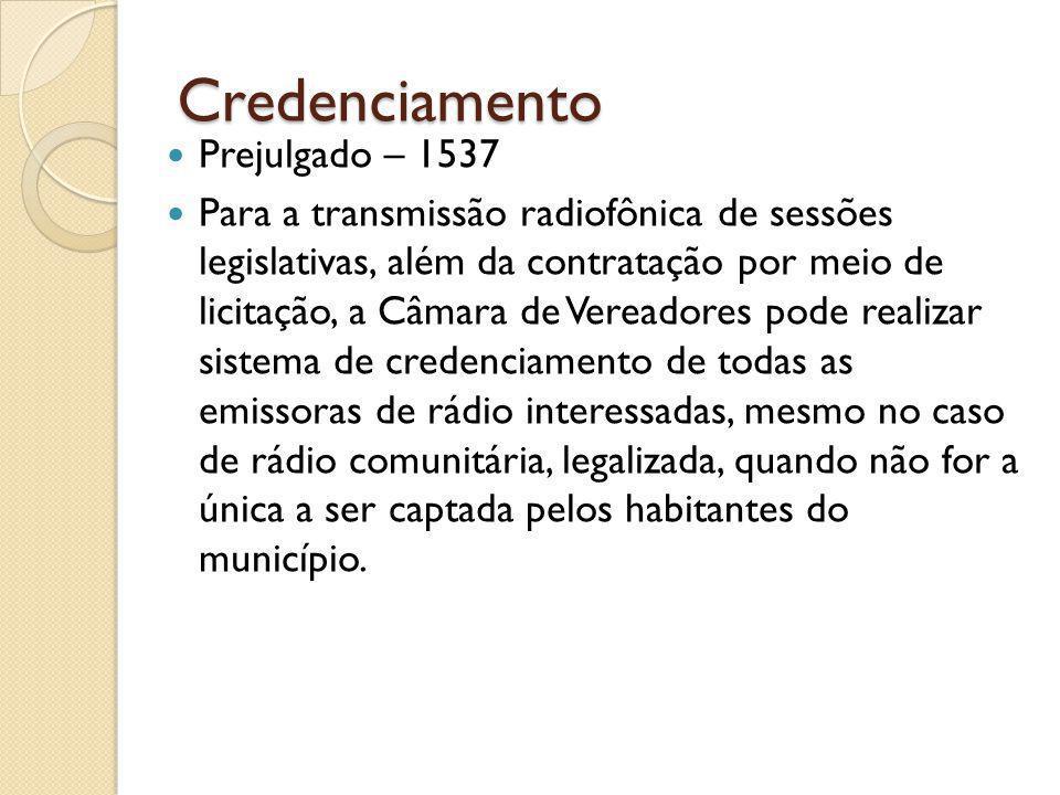 Credenciamento Prejulgado – 1537
