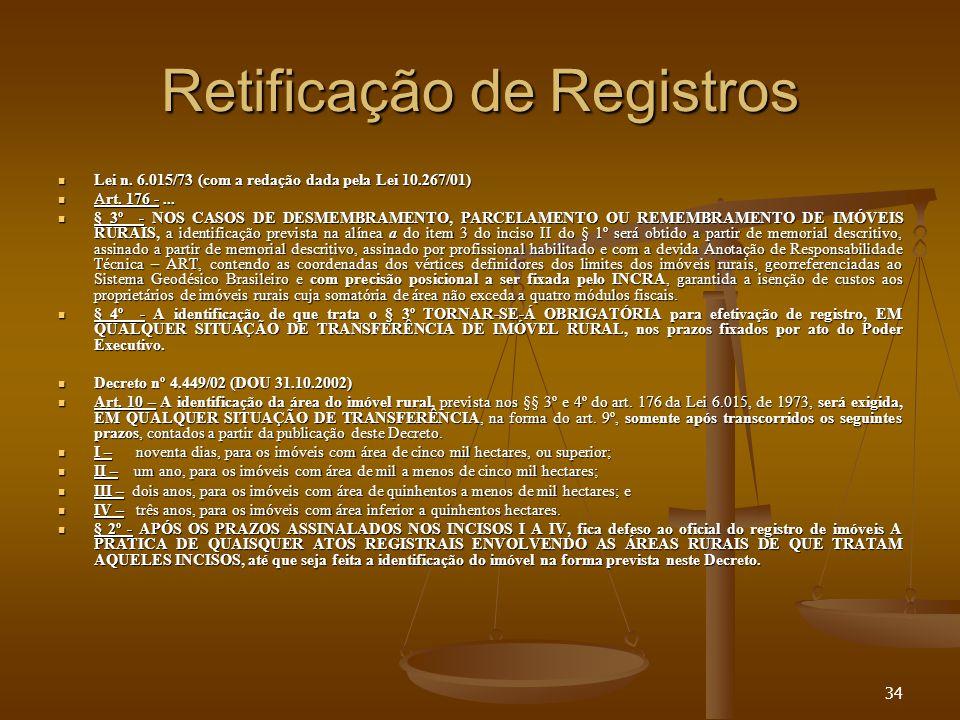 Retificação de Registros