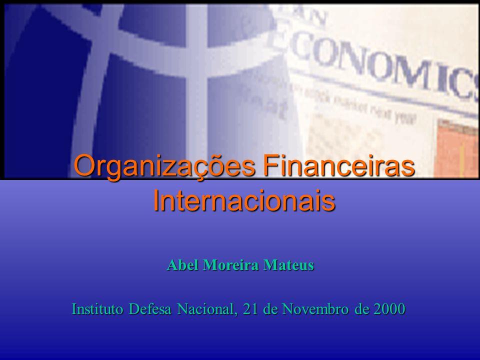 Organizações Financeiras Internacionais