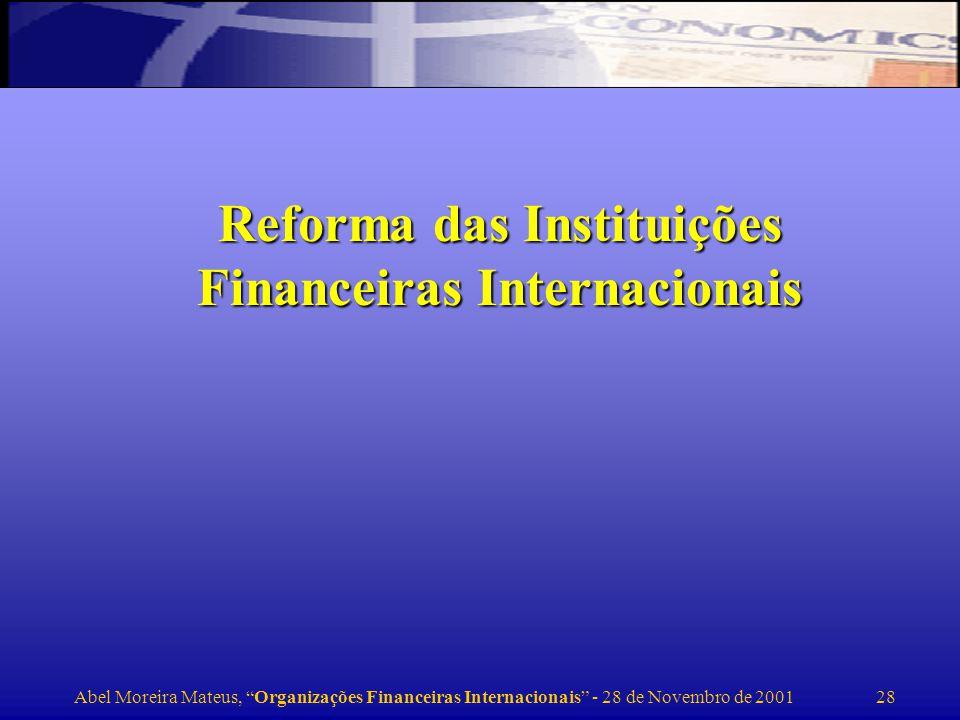 Reforma das Instituições Financeiras Internacionais