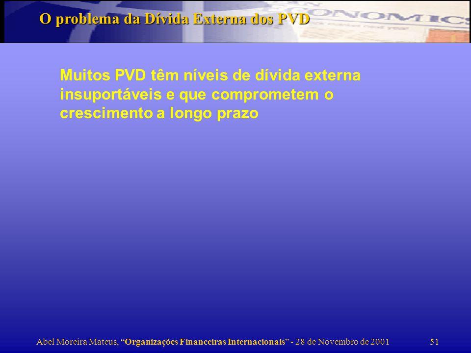O problema da Dívida Externa dos PVD