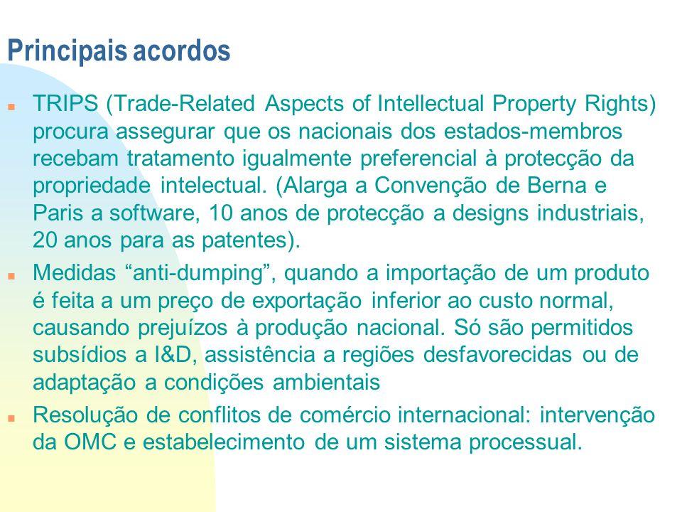 Principais acordos