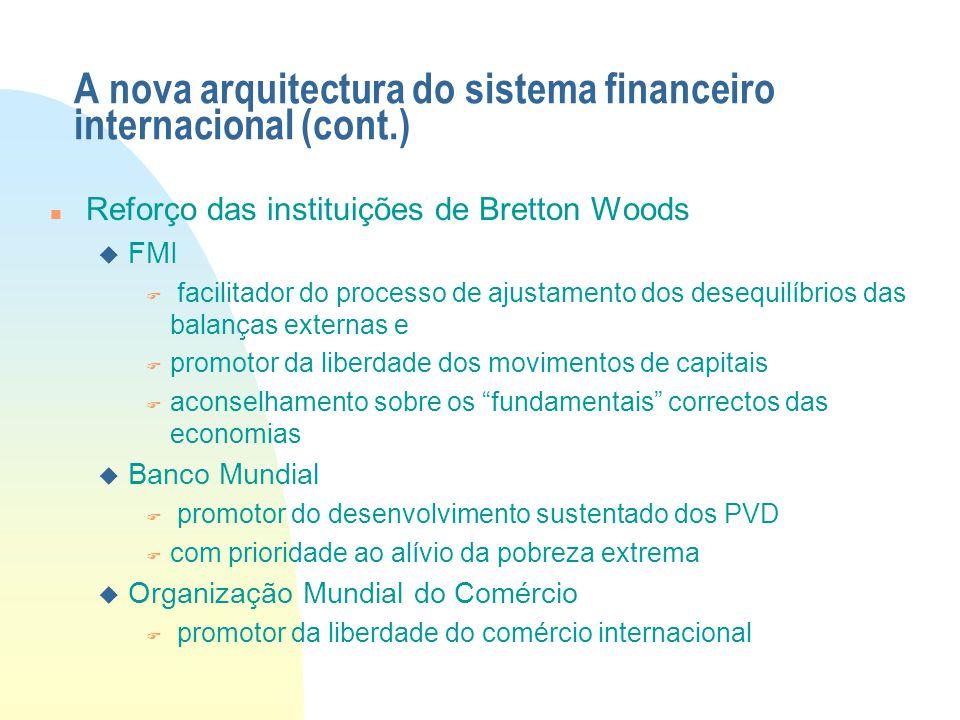 A nova arquitectura do sistema financeiro internacional (cont.)