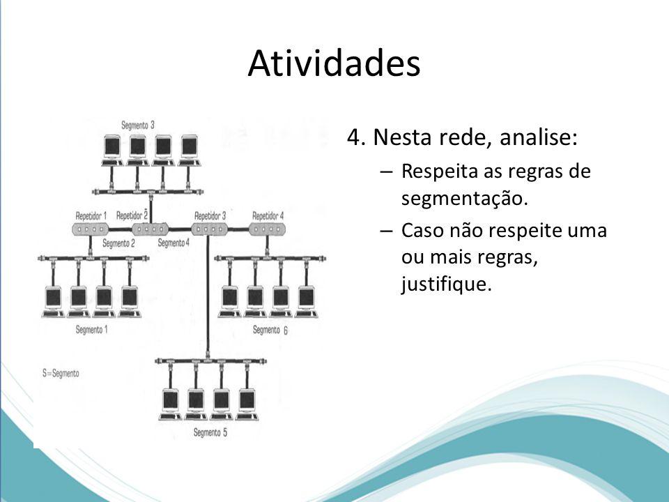 Atividades 4. Nesta rede, analise: Respeita as regras de segmentação.