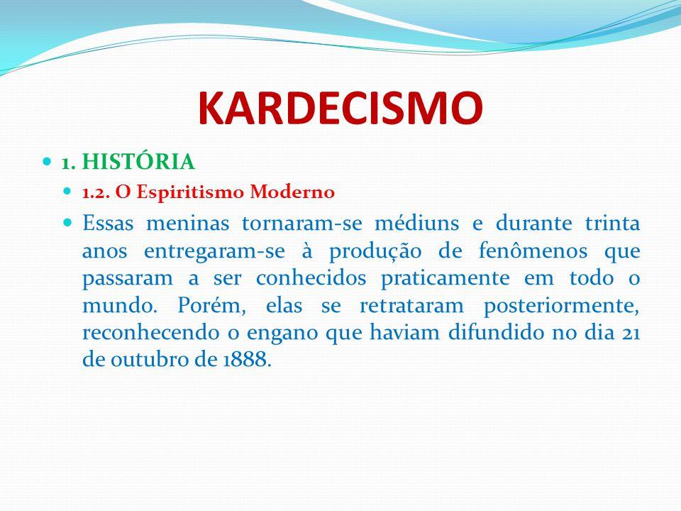 KARDECISMO 1. HISTÓRIA. 1.2. O Espiritismo Moderno.
