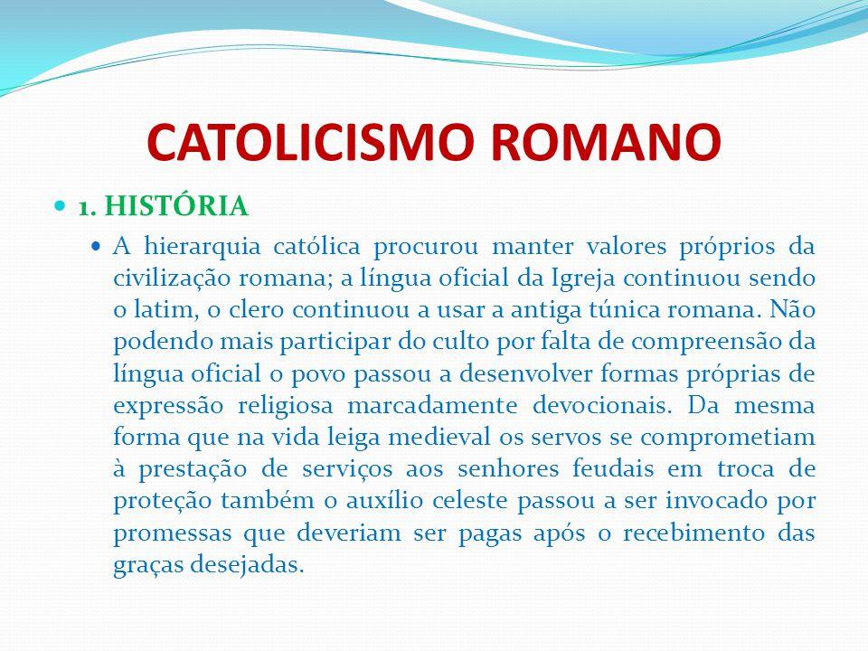 CATOLICISMO ROMANO 1. HISTÓRIA