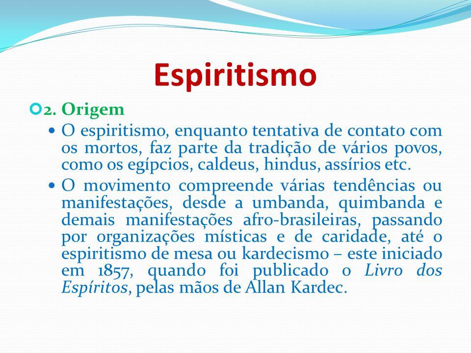 Espiritismo 2. Origem.