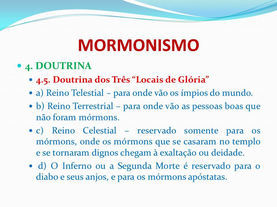 MORMONISMO 4. DOUTRINA 4.5. Doutrina dos Três Locais de Glória