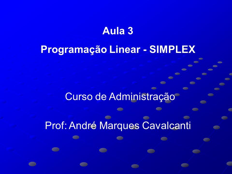 Programação Linear - SIMPLEX