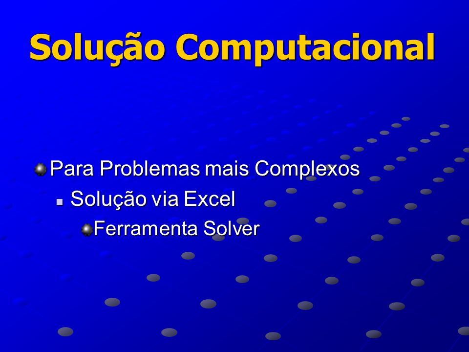 Solução Computacional