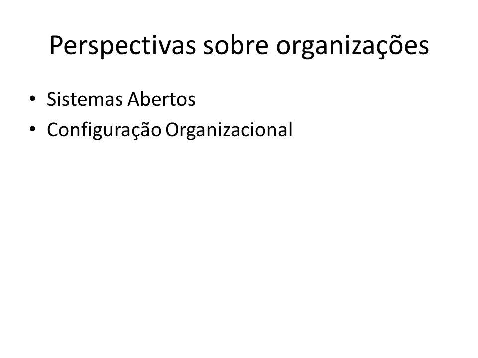 Perspectivas sobre organizações