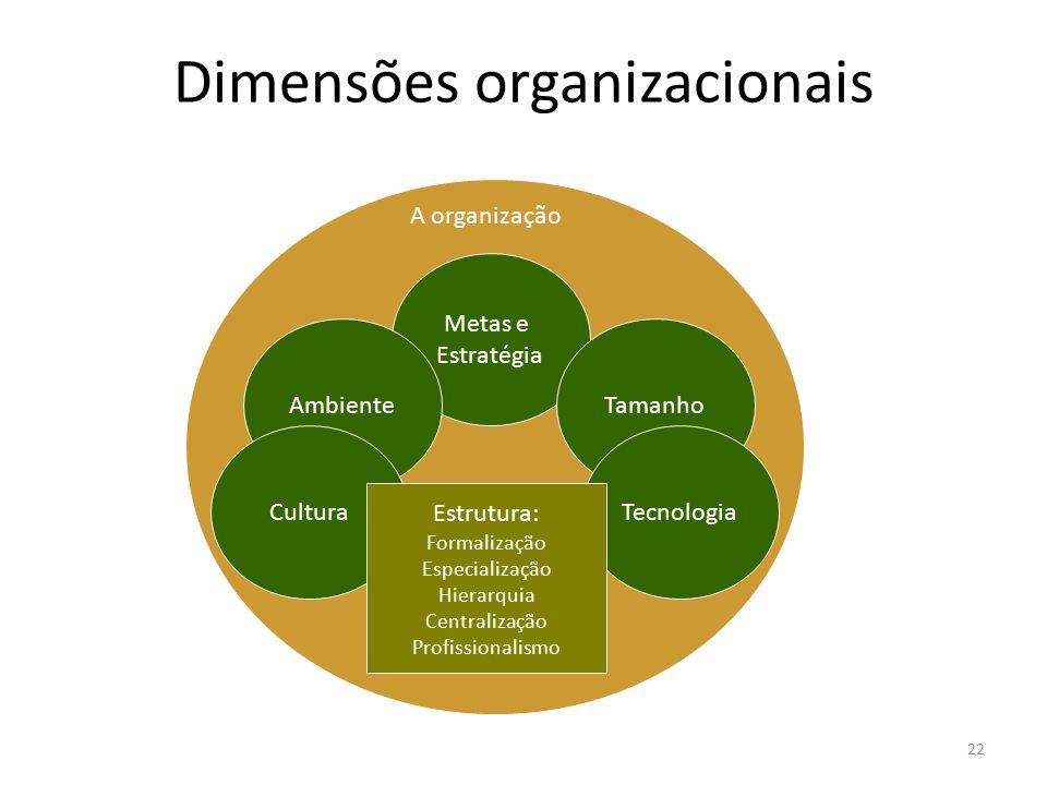 Dimensões organizacionais