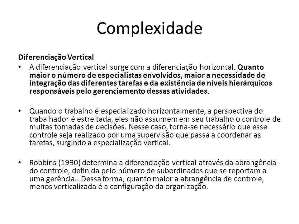 Complexidade Diferenciação Vertical